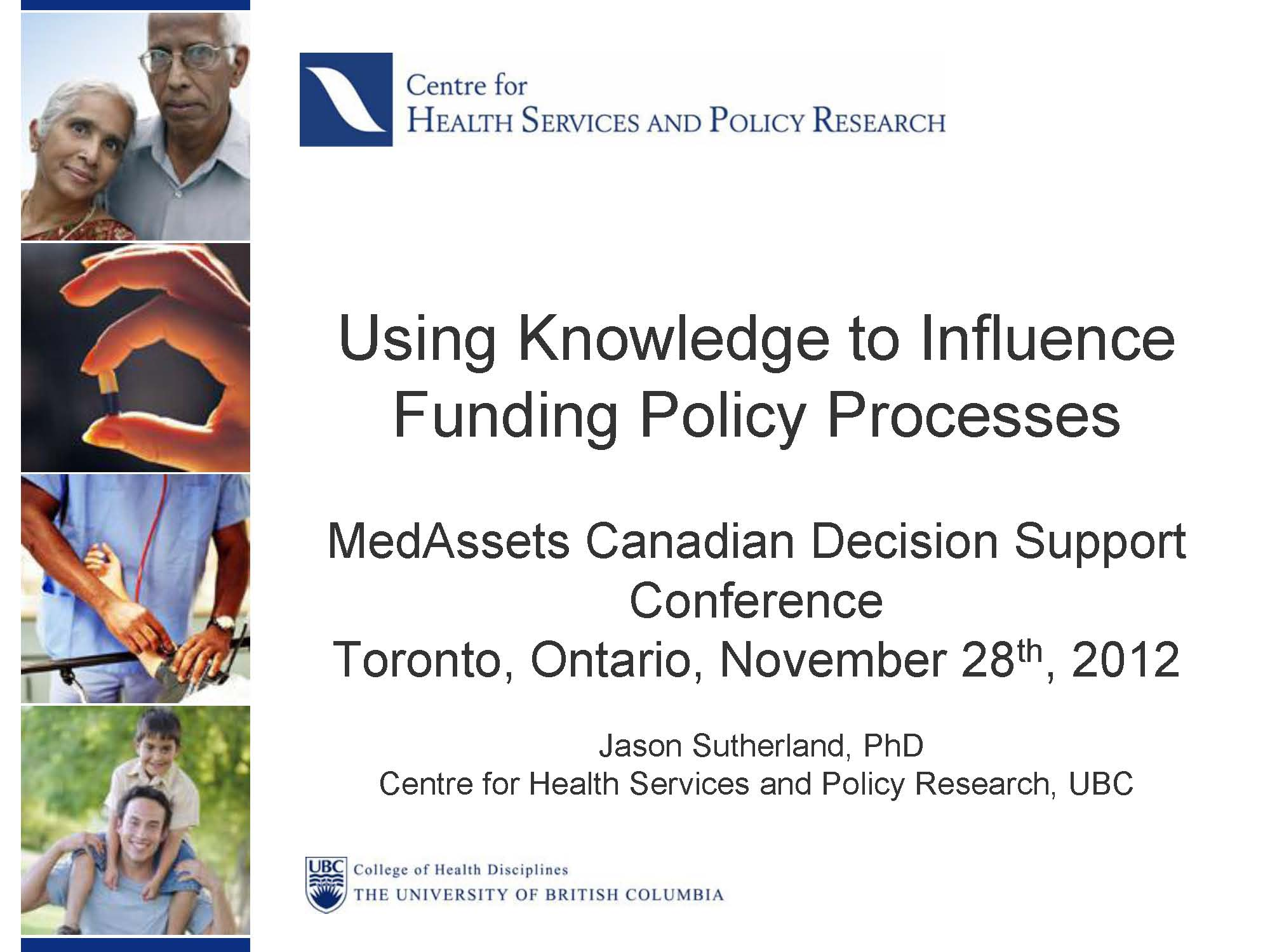 Using Knowledge to Influence Funding Policy Processes Page 01