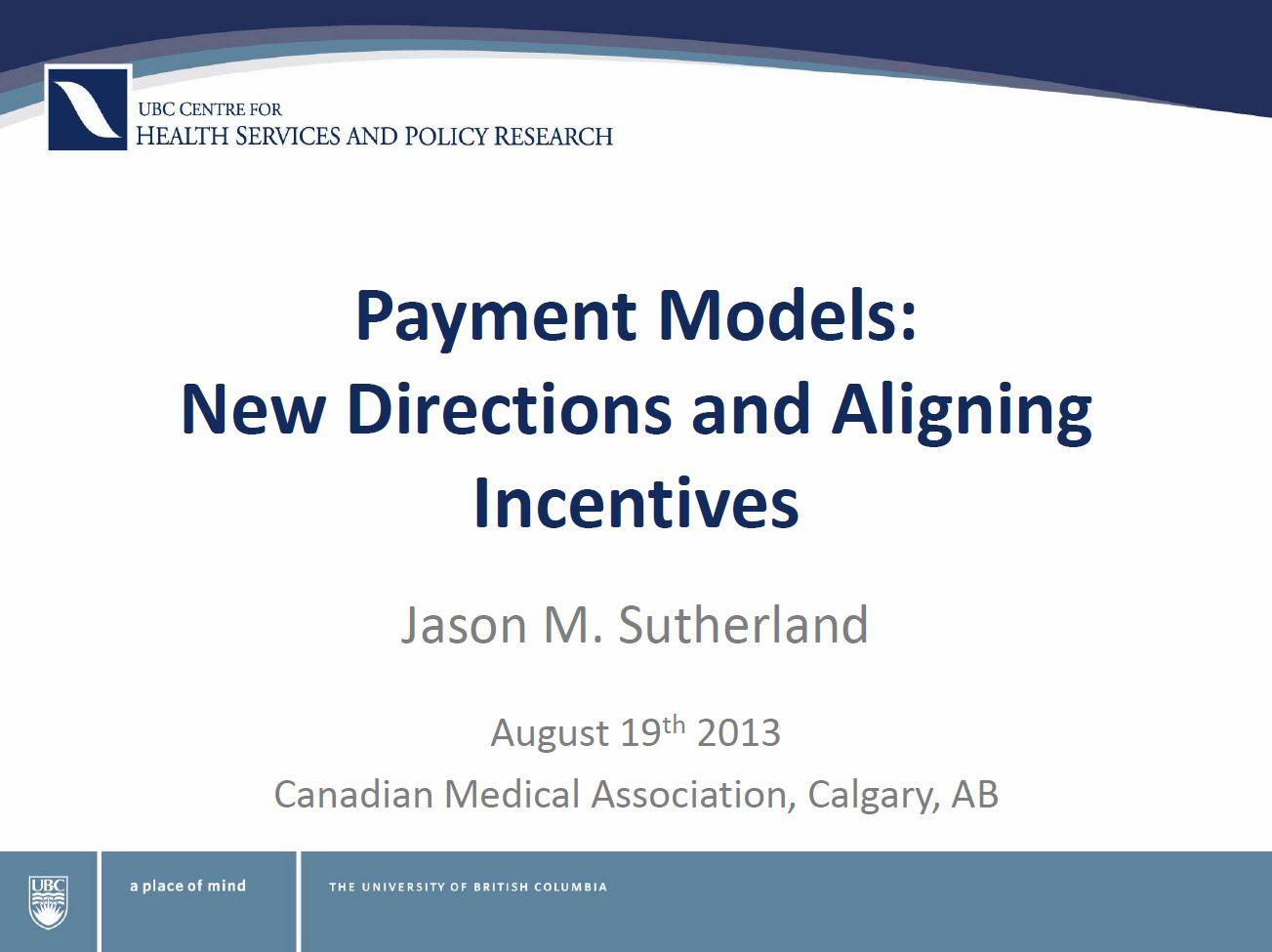 Payment models